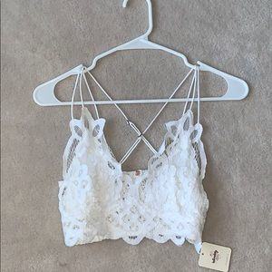 Free People Lace Cropped Cami